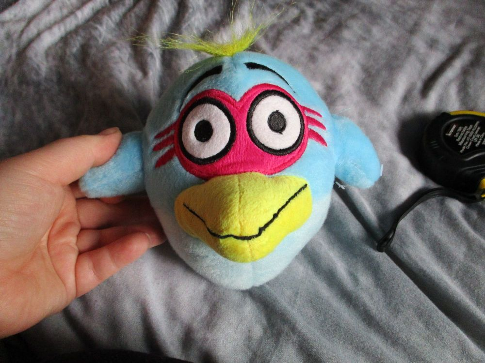 Small Blue Bird Brain - Bird Brainz - Soft Toy