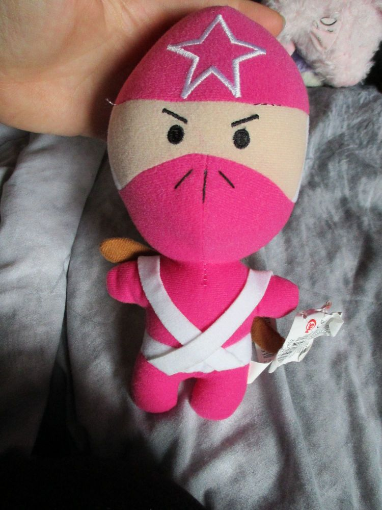 Pink / White Mini Ninja - Mini Ninjas - Soft Toy
