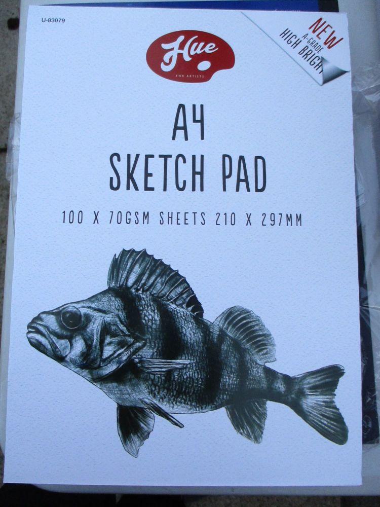 Hue A4 Sketch Pad 100pg 70GSM