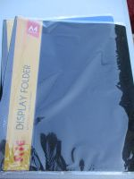 Black A4 40 Pocket File Folder