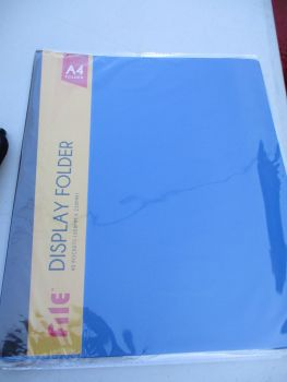 Blue A4 40 Pocket File Folder