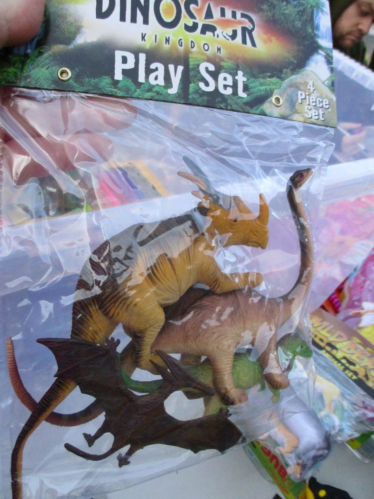 Triceratops Bag - Dinosaur Kingdom Playset
