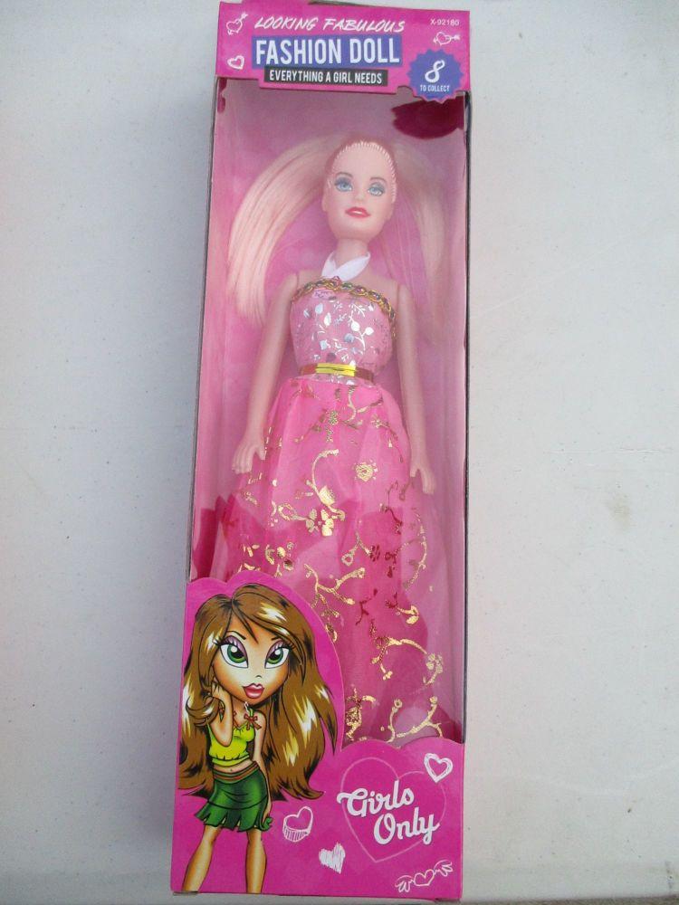 Pink with Beading Trim Dress - Fashion Doll