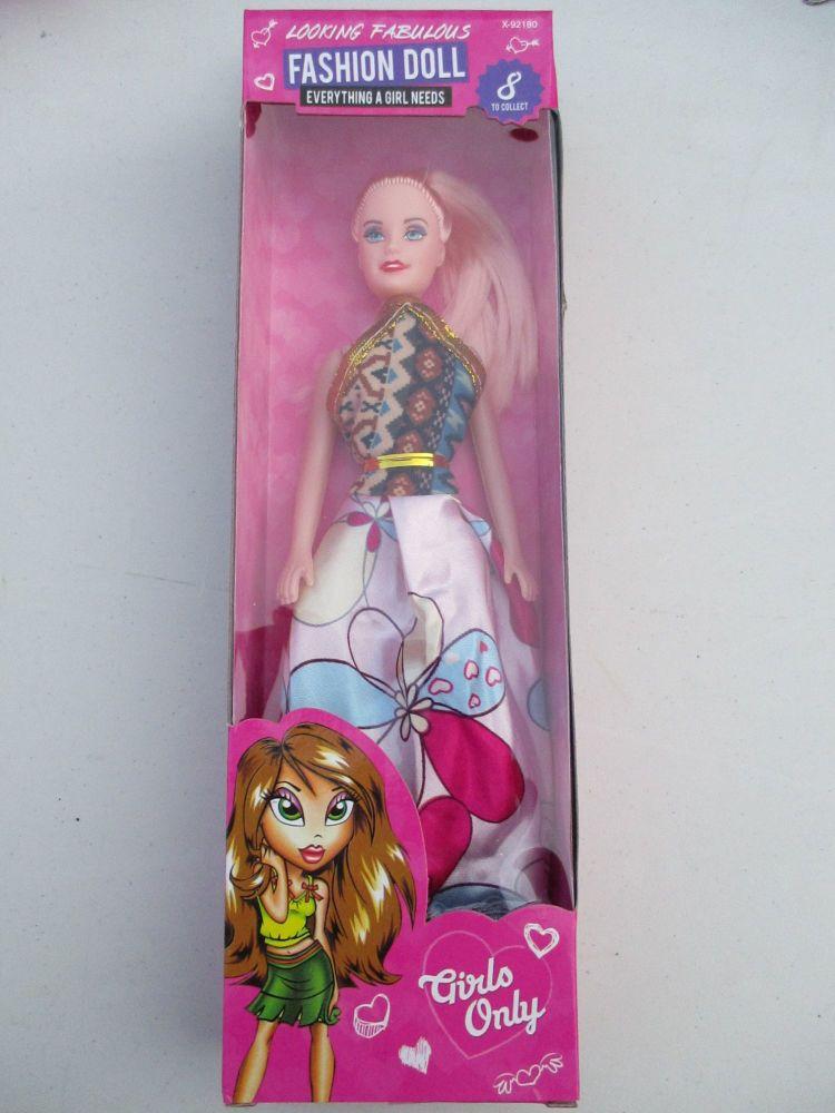 Retro Top Floral Skirt Dress - Fashion Doll