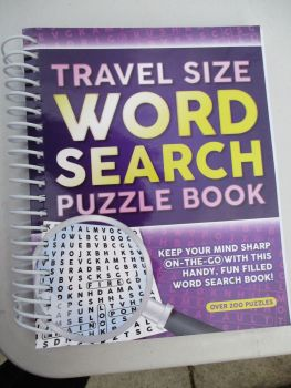 Travel Size Word Search Spiral Bound Book