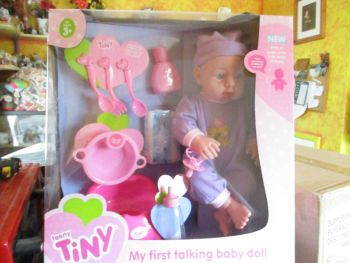 Teeny Tiny - My First Talking Baby Doll Purple 10pc Wedge Box Set