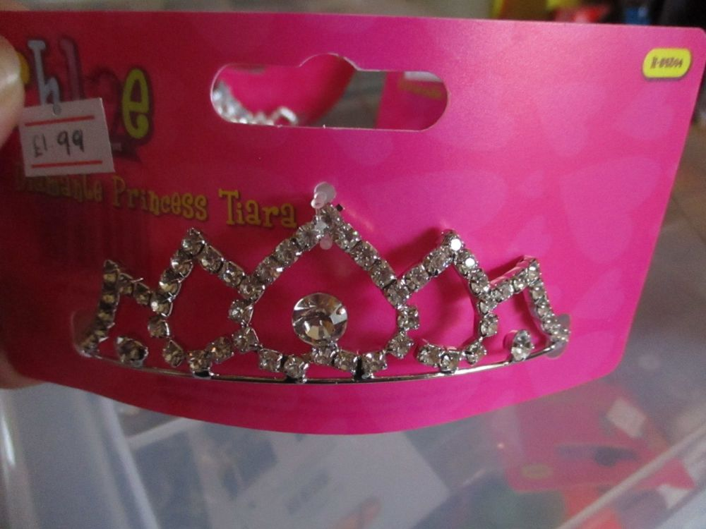Metal 5Point Design - Diamante Princess Tiara - Chloe