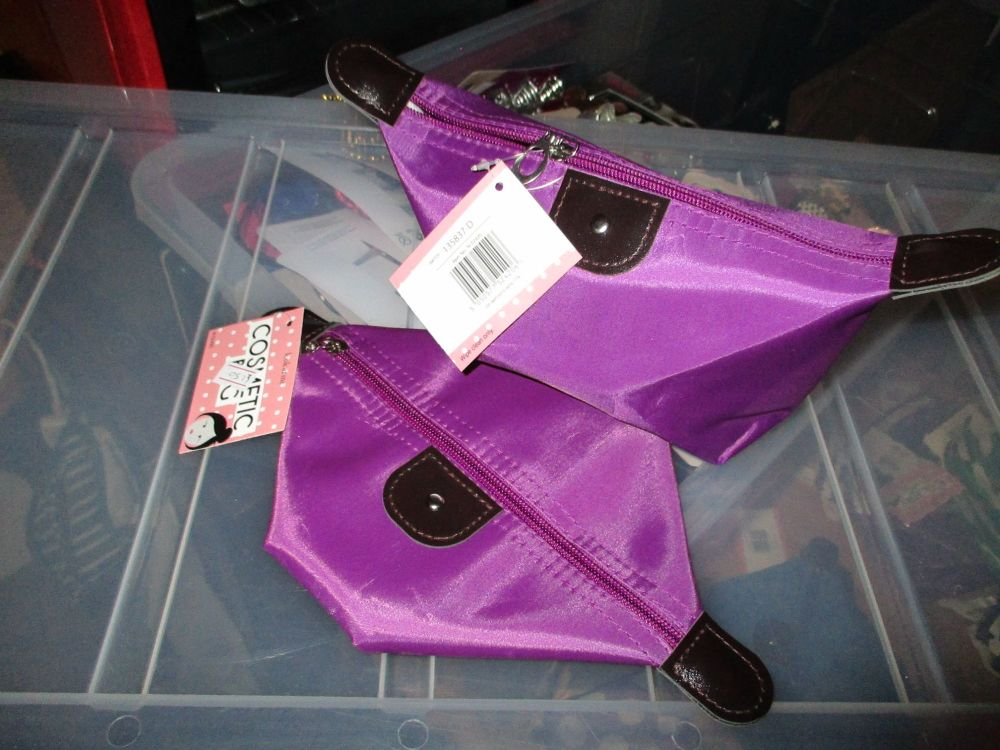 Purple Folded Cosmetics Travel Bag - Look At Me