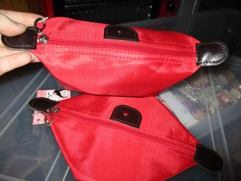 Red Folded Cosmetics Travel Bag - Look At Me