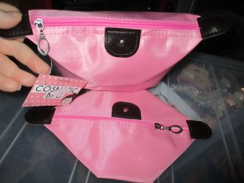 Pink Folded Cosmetics Travel Bag - Look At Me