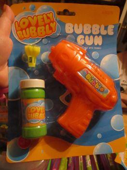 Orange Bubble Gun with Bubble Solution - Lovely Bubbly