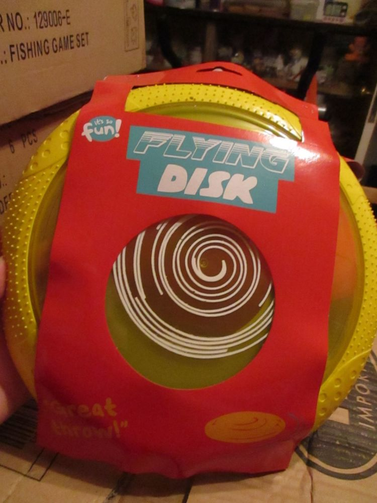 Yellow Silicone & Plastic Flying Disk - Its So Fun