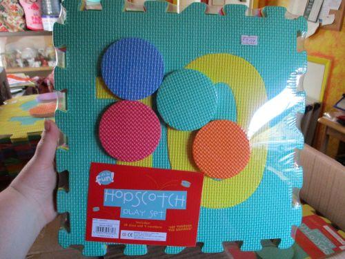 Green Set - Giant Foam Hopscotch Floor Puzzle Game