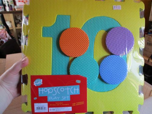 Yellow Set - Giant Foam Hopscotch Floor Puzzle Game