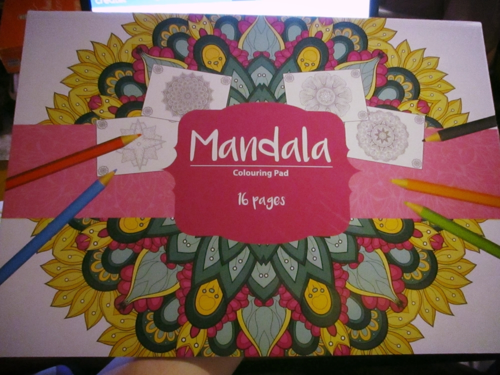 Pink Cover Design - 16pg Mandala - A3 Colouring Pad