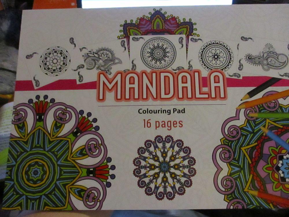 White Cover Design - 16pg Mandala - A3 Colouring Pad