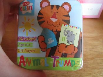 Kids Create - 26pc Animal Trumps Cards Game In Tin