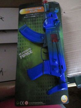 Blue Rapid Fire Machine Gun Toy