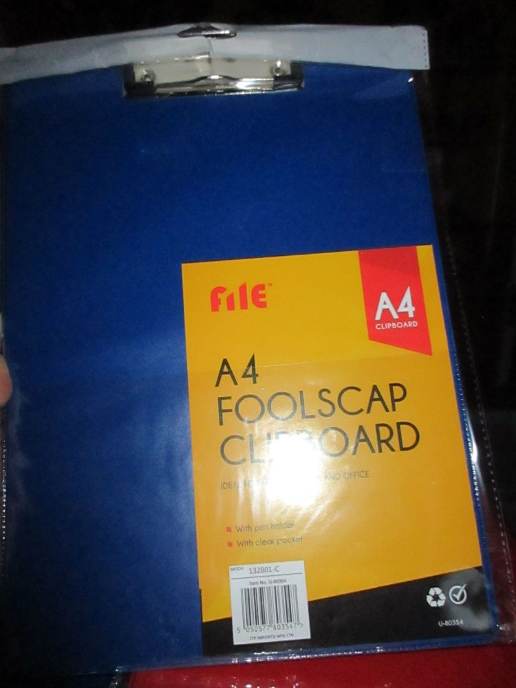 Blue Foolscap Flexible Clipboard