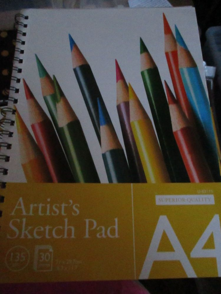 Artists Spiral Bound Sketchpad A4 - 135gsm 30pg