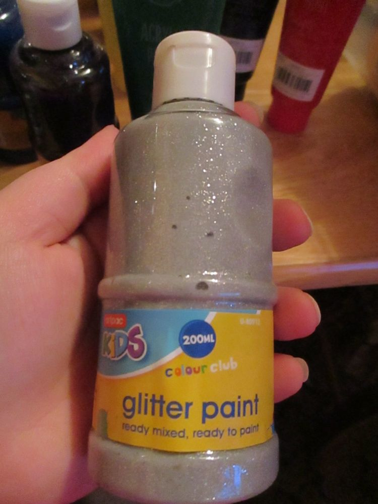 Silver Glittery 200ml Acrylic Paint - Artpac