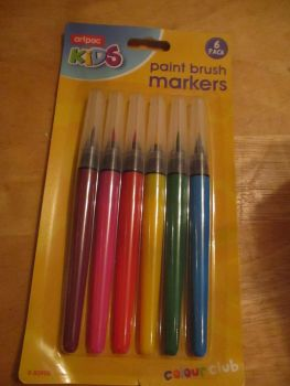 6pc Pack Paint Brush Markers - Artpac