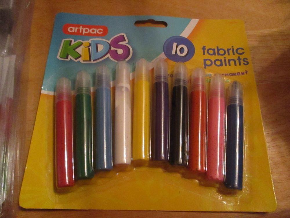 10pc Fabric Paints Set - Artpac