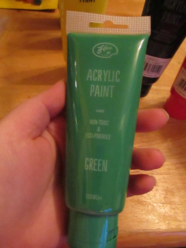 Green 120ml Acrylic Paint - Hue