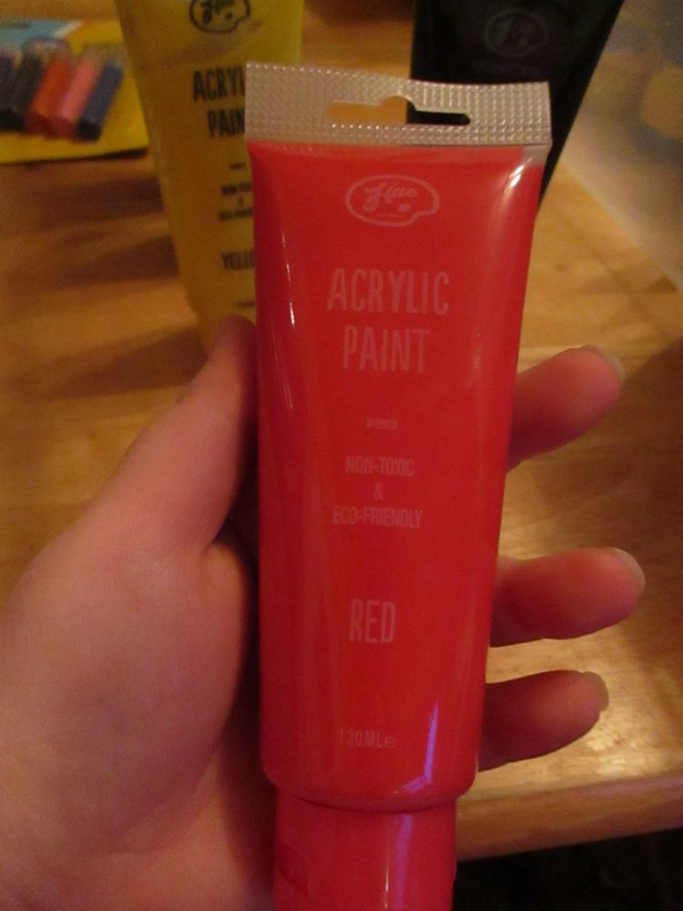 Red 120ml Acrylic Paint - Hue