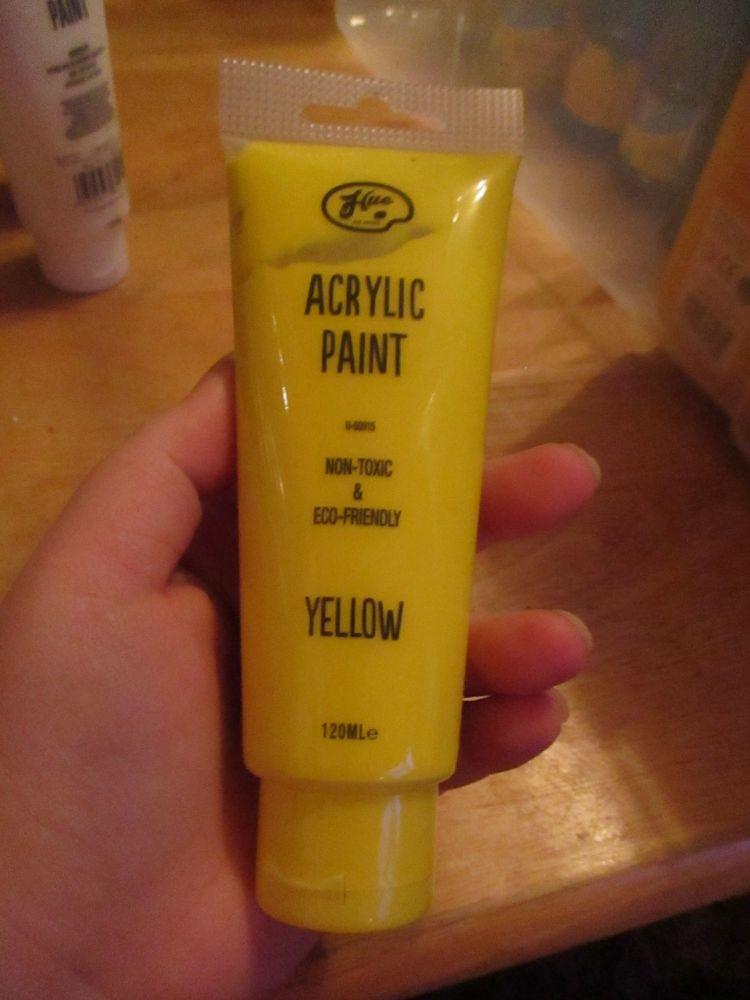Yellow 120ml Acrylic Paint - Hue
