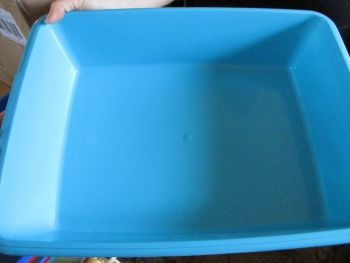 Cat Litter Tray - 48cm - Light Blue