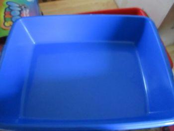 Cat Litter Tray - 48cm - Dark Blue