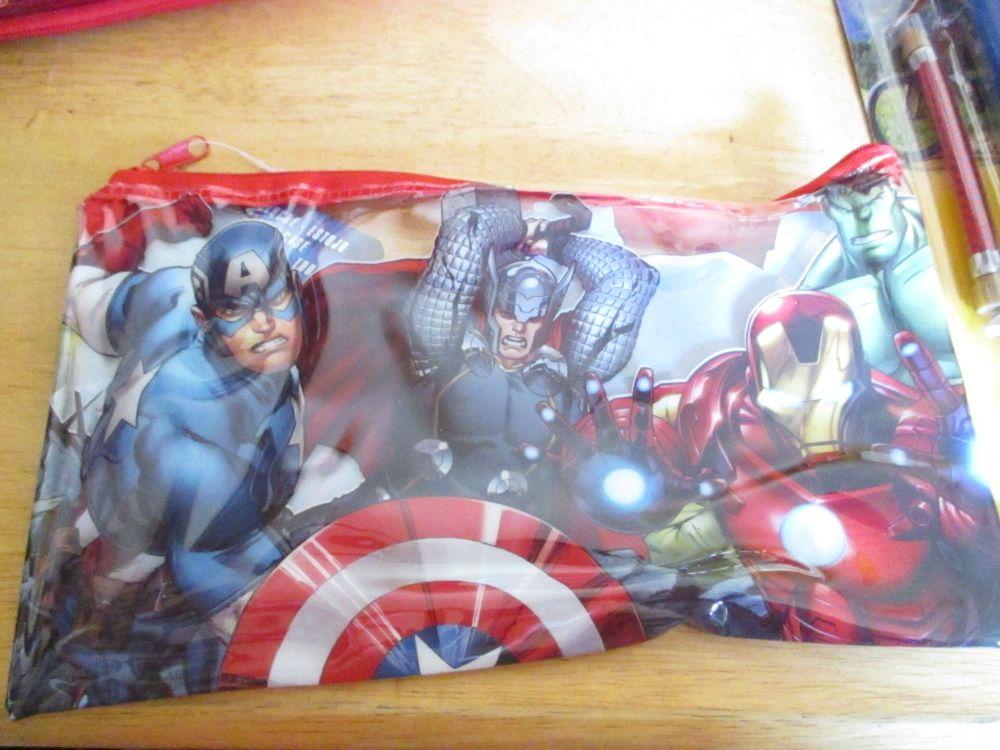Marvel Avengers - Licensed PVC Flatline Pencil Case Design 2