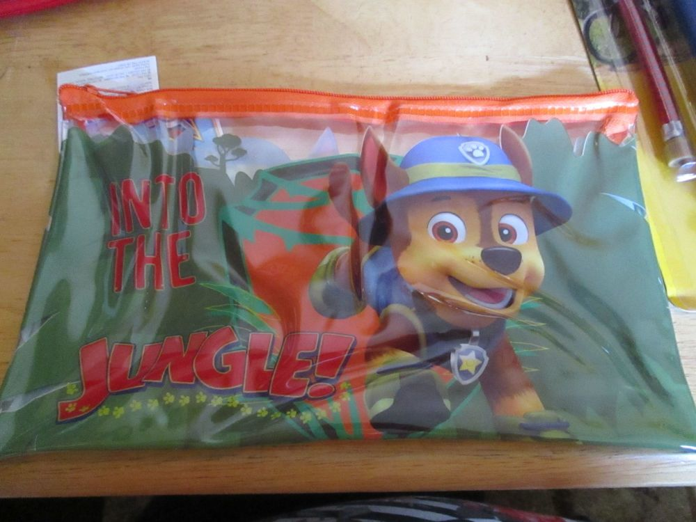 Into The Jungle Green Paw Patrol - Licensed PVC Flatline Pencil Case