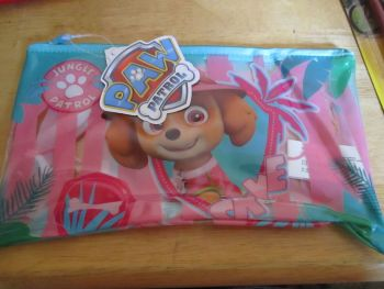 Jungle Patrol Pink Paw Patrol - Licensed PVC Flatline Pencil Case
