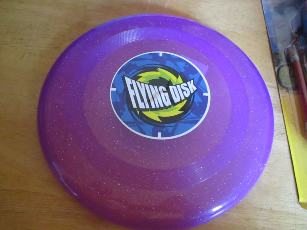Glittery Purple Plastic Flying Disk