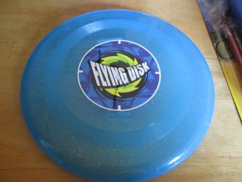 Glittery Light Blue Plastic Flying Disk