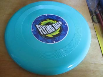 Aqua Green Blue Plastic Flying Disk