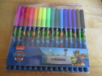 Into The Jungle Green Paw Patrol - Licensed 16pc Colouring Markers