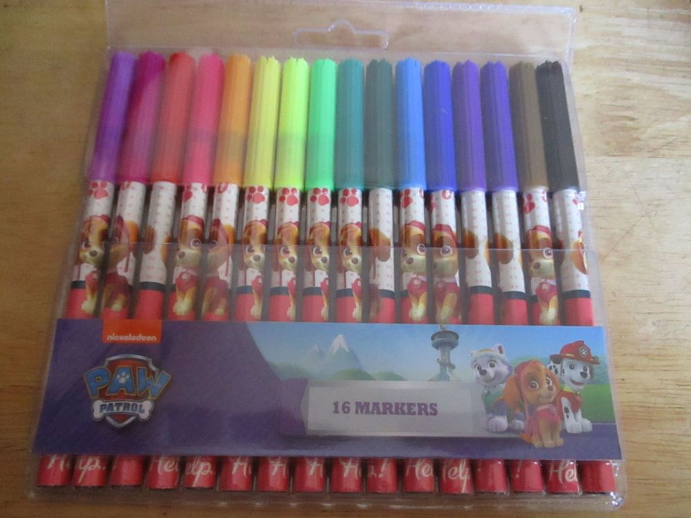 Jungle Patrol Pink Paw Patrol - Licensed 16pc Colouring Markers