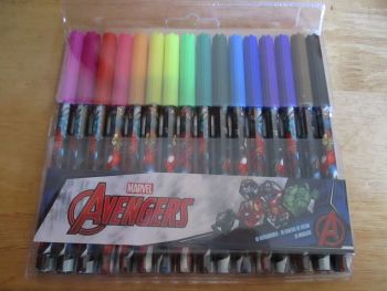 Marvel Avengers - Licensed 16pc Colouring Markers
