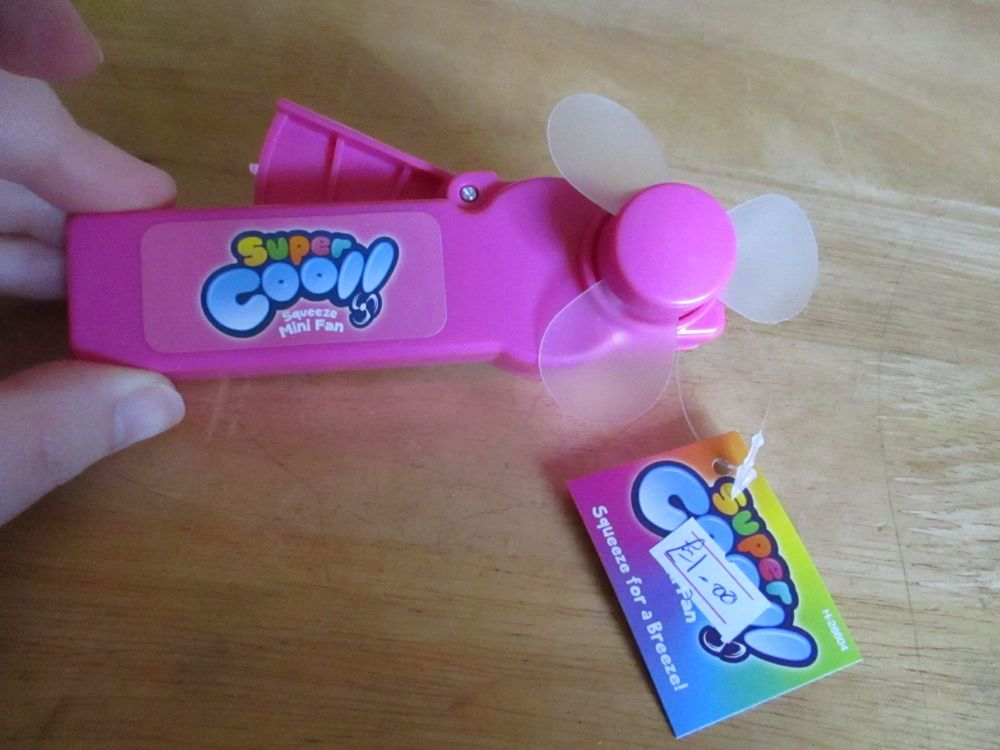 Pink - Super Cool - Squeeze Mini Fan