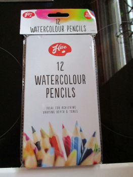 Hue 12pc Watercolour Pencils In Tin