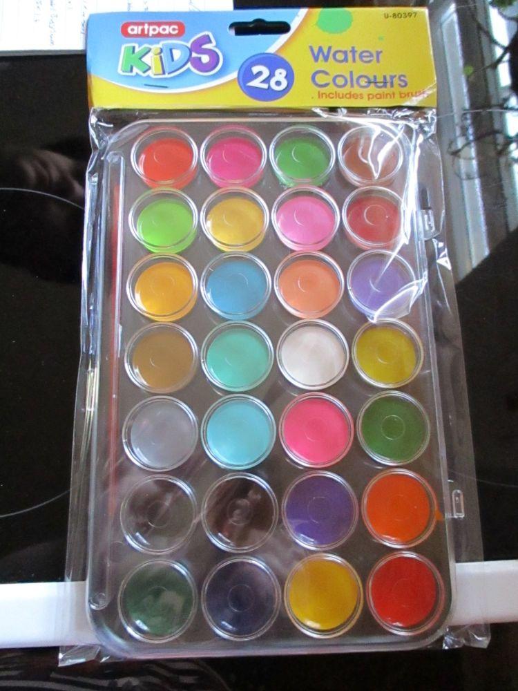 Artpac 28 Watercolour Plastic Paint Palette