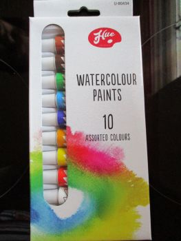 Hue 10pc Watercolour Paint Set
