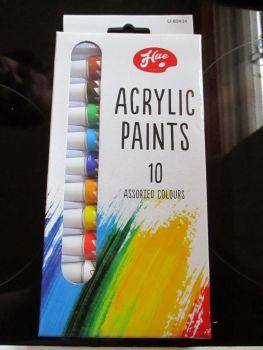Hue 10pc Acrylic Paint Set