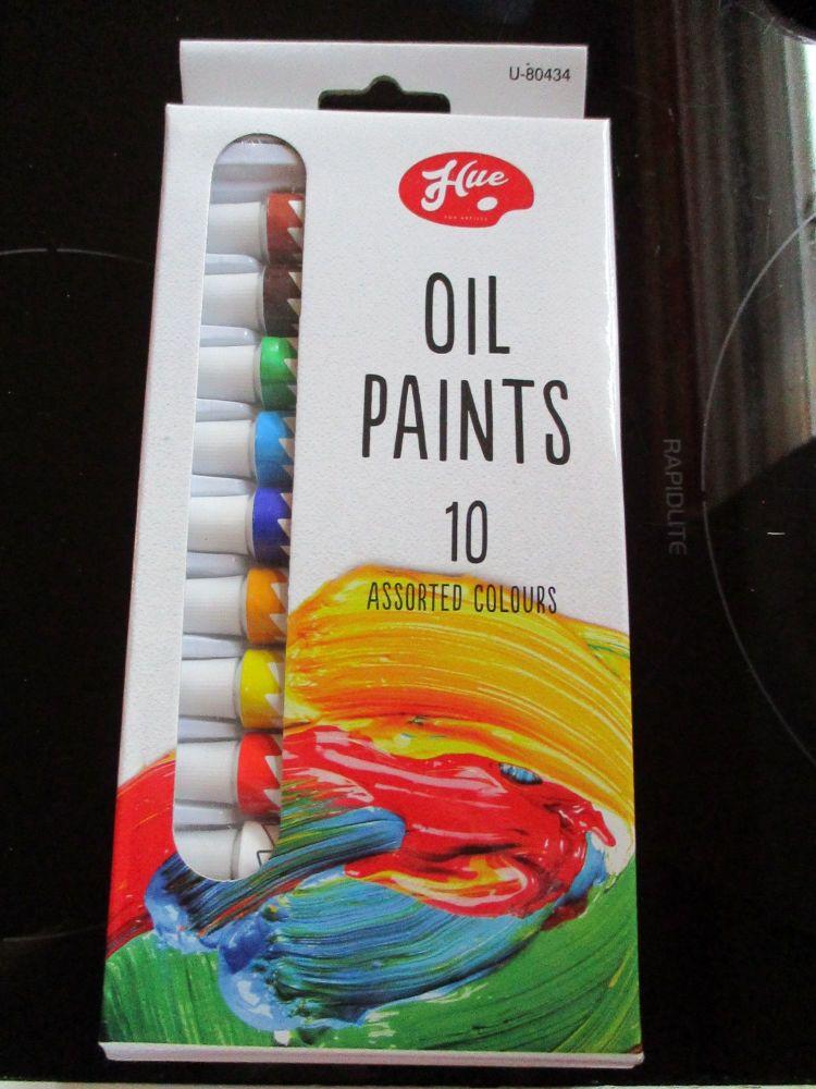 Hue 10pc Oil Paint Set