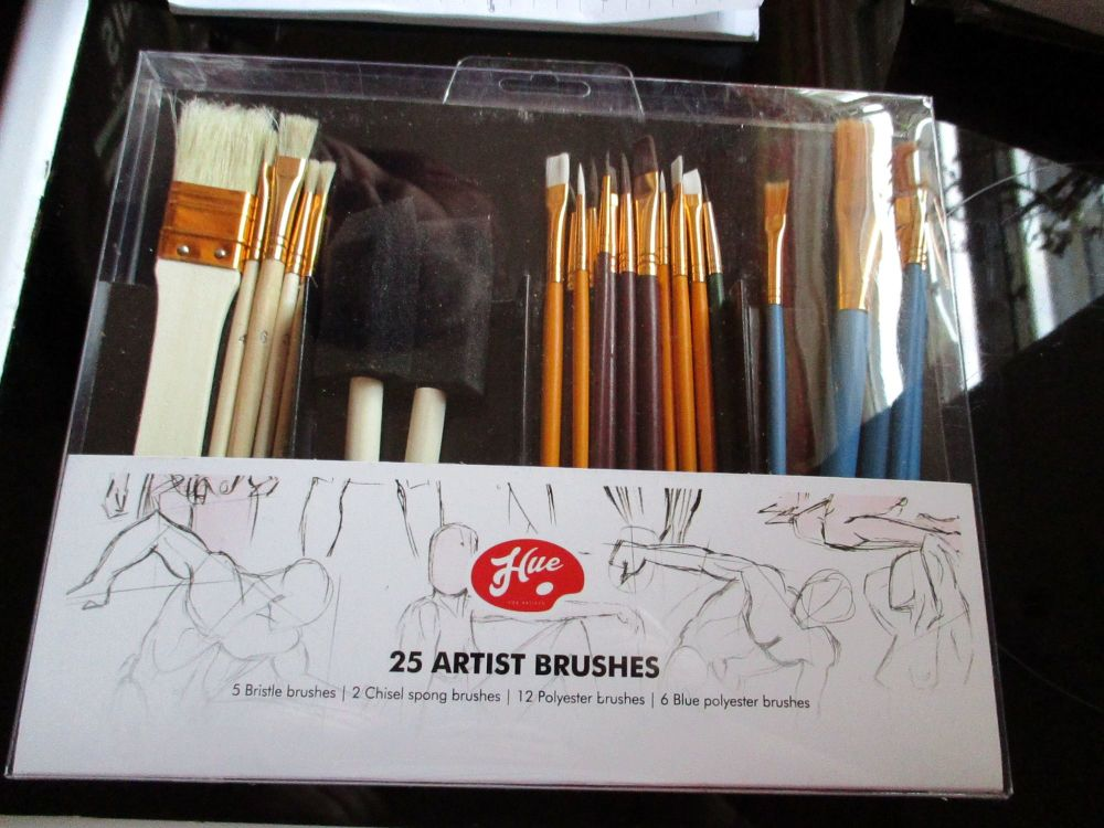 Hue 25 Artist Brushes Set