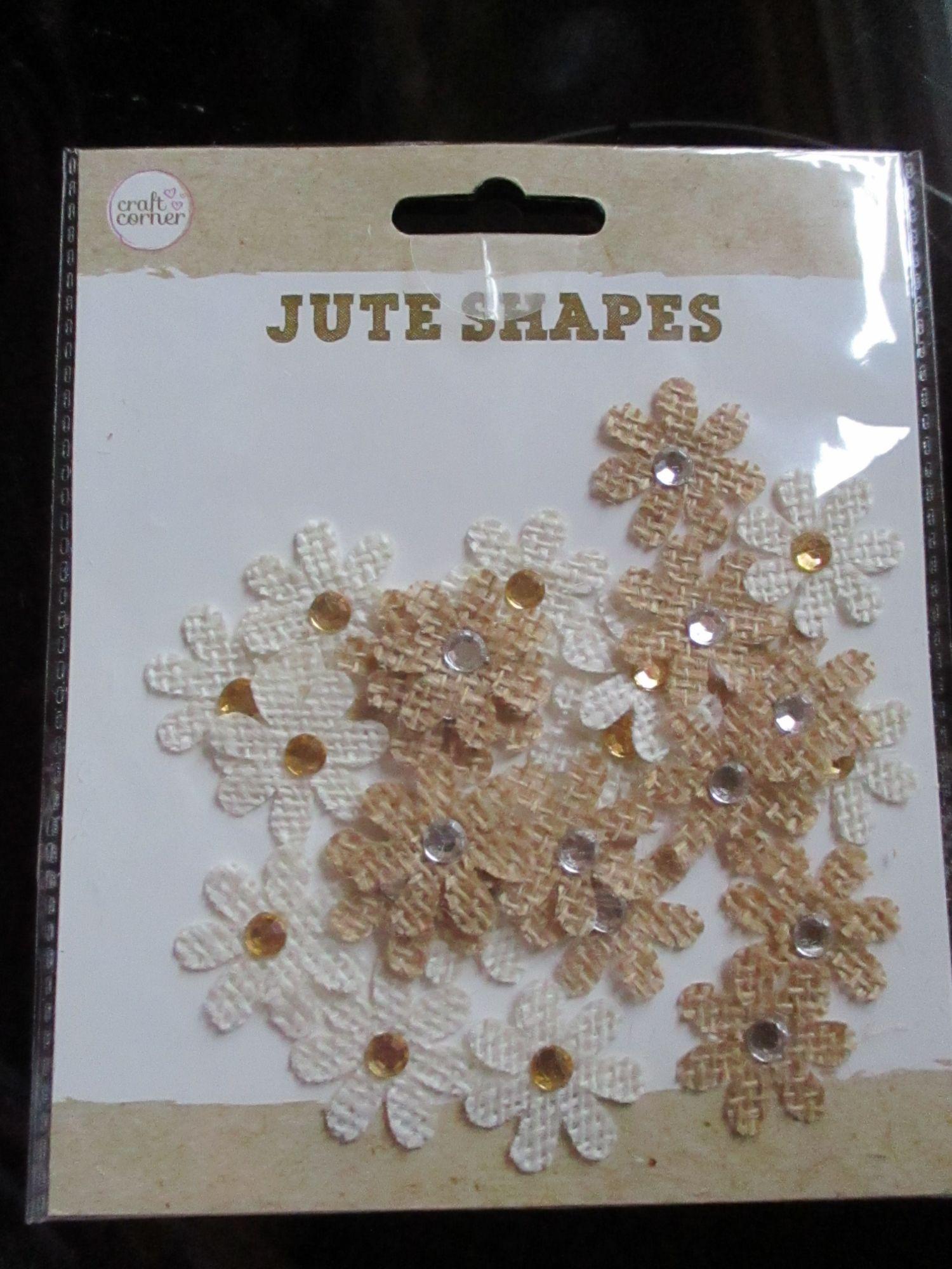Mini Jewelled Daisies Jute Shapes Craft Corner