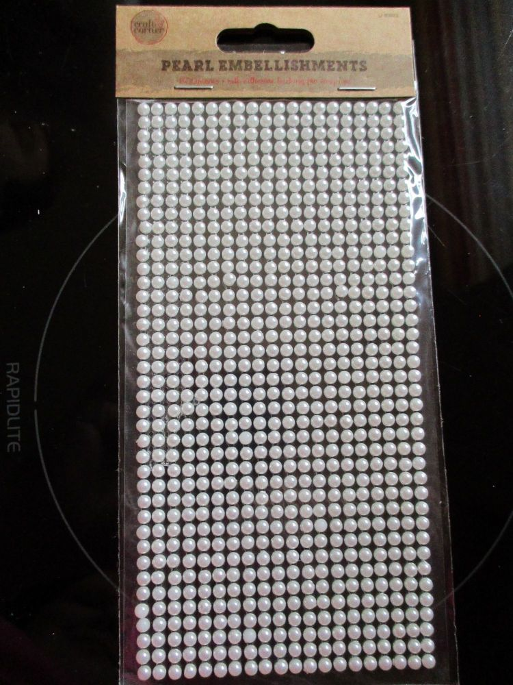 Mini Half Pearls - Pearlescent Embellishments - Craft Corner